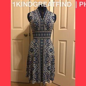 Maggy London blue sleeveless dress size 8